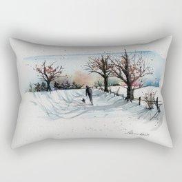 Winter Solitude Rectangular Pillow