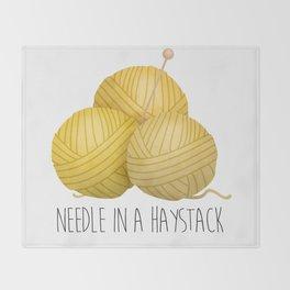 Needle In A Haystack Throw Blanket