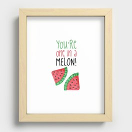 One In A Melon Recessed Framed Print