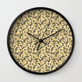 Bitmap in beige tones. Wall Clock