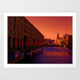 Albert Dock And the Pier Head Art Print