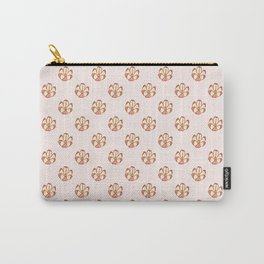 Flower Shaped Nut Pattern Carry-All Pouch