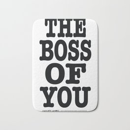 Boss of You Mom Dad Wife Husband Gift Bath Mat