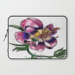 Exotic Lily Flower Laptop Sleeve