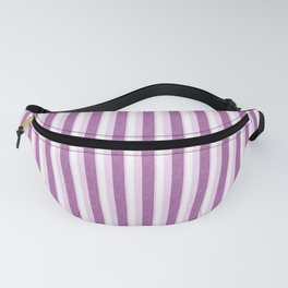 Light Purple and White Retro Vintage Grunge style pattern Fanny Pack