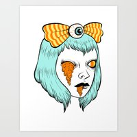 alisa burke Art Prints featuring candy corn melt by Ally Burke