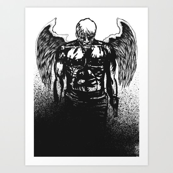 Some angels. Art Print