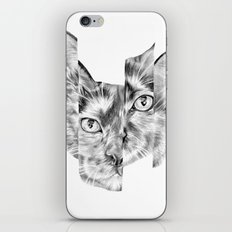 Kitty Split iPhone Skin