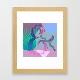 Moiré Ampersand Framed Art Print
