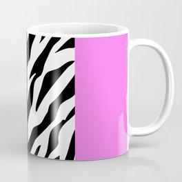 Animal Print, Zebra Stripes, Leopard Spots - Pink Coffee Mug