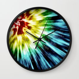 Abstract Dark Tie Dye Wall Clock
