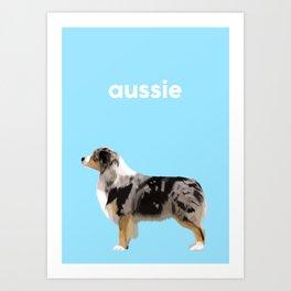 #Australian Shepherd #2 Art Print