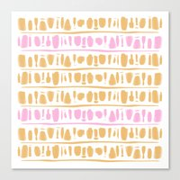 rose gold Canvas Prints featuring Rose + Gold by Kat Rutt Design