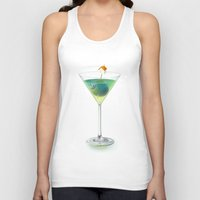 cocktail Tank Tops featuring Cocktail by Etienne Chaize
