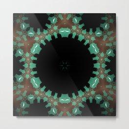 Rich Brown Mandala Metal Print