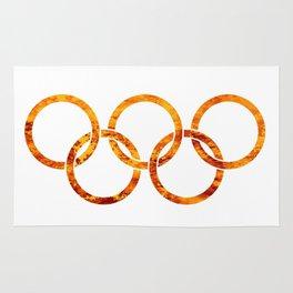 Flaming Olympic Rings Rug