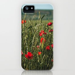 Italian Countryside Red Poppies iPhone Case