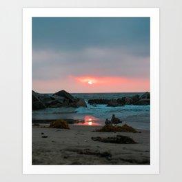 Sunset at Venice Beach Art Print