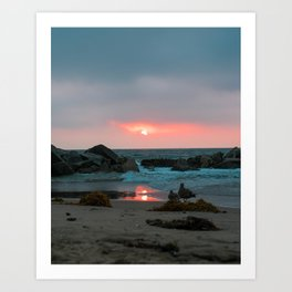 Sunset at Venice Beach Art Print