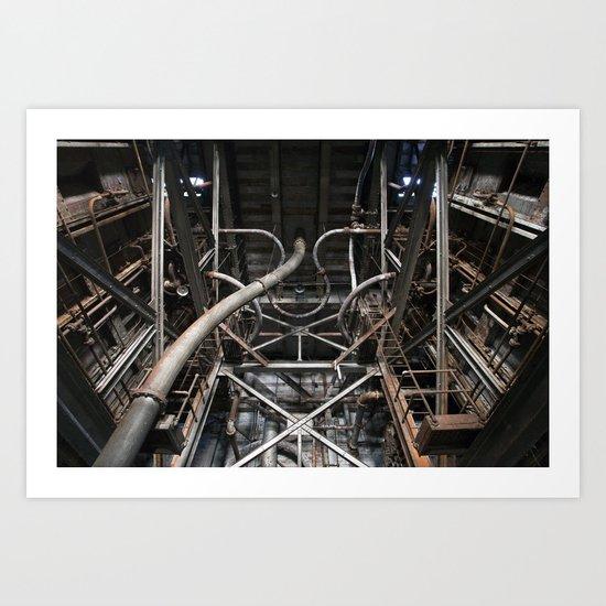 Endless Pipes Art Print