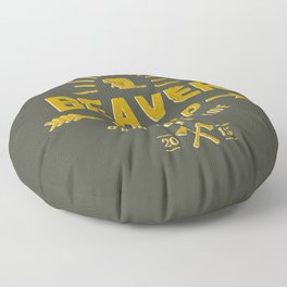 Beaver Camp: Dam Good Time Floor Pillow