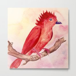 Punk Bird Metal Print