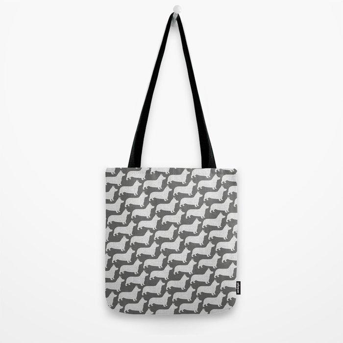 Corgi Silhouette(s) Tote Bag