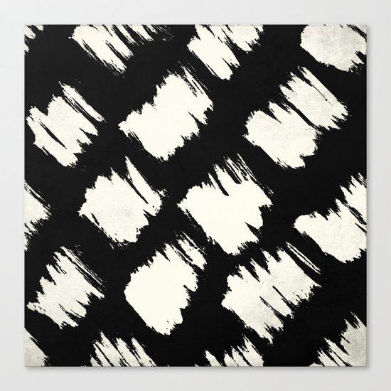 Tribal Brushed Dot Canvas Print