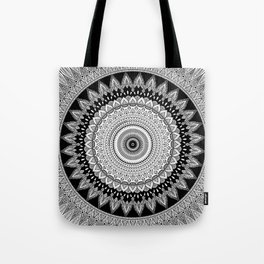 Black and White Mandala Two Tote Bag