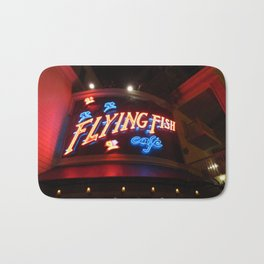The Flying Fish Cafe Sign Bath Mat