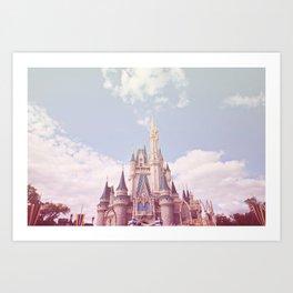 Pastel Castle Art Print