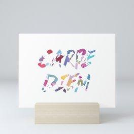 Carpe Diem Color Ink Mini Art Print
