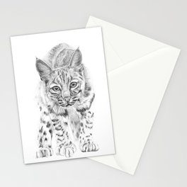 On the Prowl :: A Young Bobcat Stationery Cards