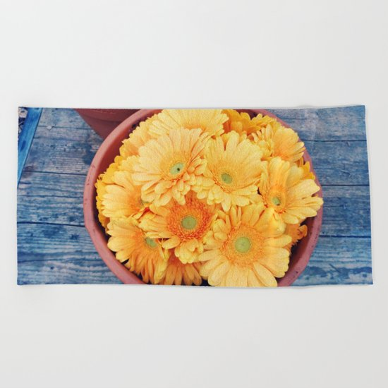 Orange germini Beach Towel