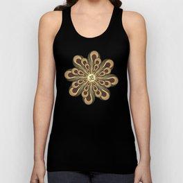 Om Mandala, Purple and Gold Fractal, Spiritual Gift, Yoga Lifestyle Unisex Tank Top