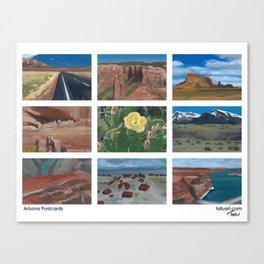 Arizona Postcards Canvas Print