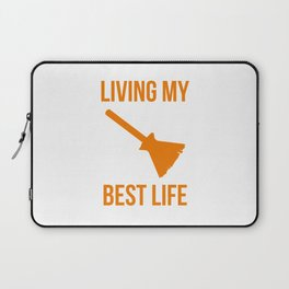 Living My Best Life Funny Witch Design Laptop Sleeve