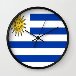 flag of Uruguay-Uruguyan,montevideo,spanish,america,latine,Salto,south america,paysandu,costa,sun,be Wall Clock