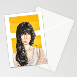 Yellow Lock Stationery Cards