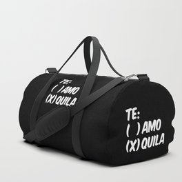 Tequila or Love - Te Amo or Quila (Black & White) Duffle Bag