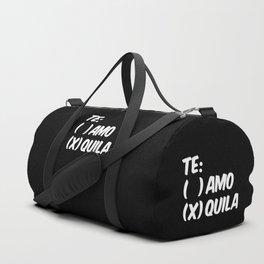 Tequila or Love - Te Amo or Quila (Black & White) Duffle Bag