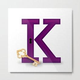 K is for Key Metal Print