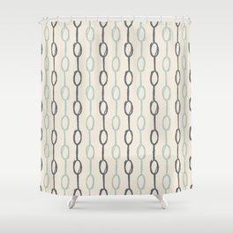 Girly Dot Stripe 4 Shower Curtain