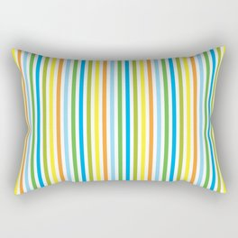 Colourful Pinstripes Rectangular Pillow
