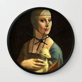 My lady with an ermine Wall Clock