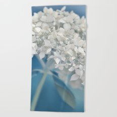 Beautiful White Hydrangea 276 Beach Towel