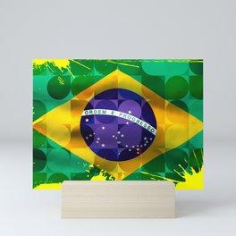 Brasil art flag Mini Art Print