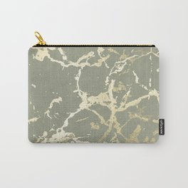 Kintsugi Ceramic Gold on Green Tea Carry-All Pouch