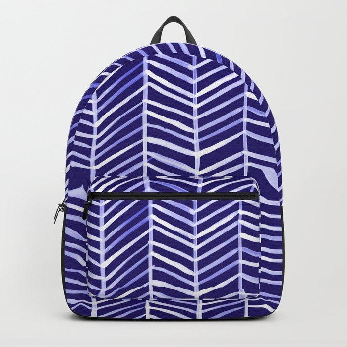 Herringbone – Navy & White Backpack