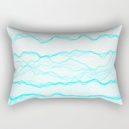 Haze Aqua Rectangular Pillow